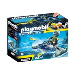 PLAYMOBIL TOP AGENTS IV MOTO D'ACQUA C/LANCIARAZZI 28PZ
