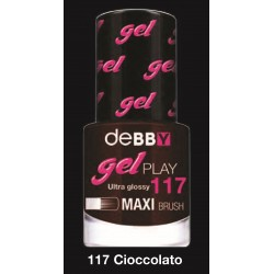 MAKE-UP SMALTI DEBBY GELPLAY N.117 CIOCCOLATO 7,5ML X3