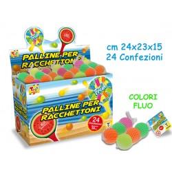 PALLINE RACCHETTONI 3PZ IN PVC 39MM in rete