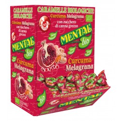 CARAMELLE BIO MENTAL DISPLAY CURCUMA E MELAGRANA 750GR X200