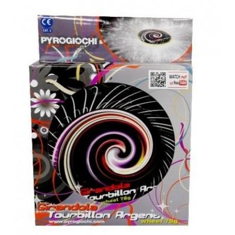 "PTY2 PIRICO GIRANDOLE PYROGIOCHI TOURBILLON ARGENT 20CM 60"""