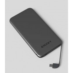 GROOVY POWER BANK MICRO USB android 4000MAH GRIGIO C11 X2