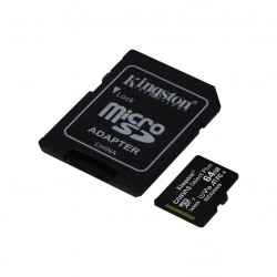 MEMORY CARD MICRO SD KINGSTON 64GB 100R A1 + ADAPTER