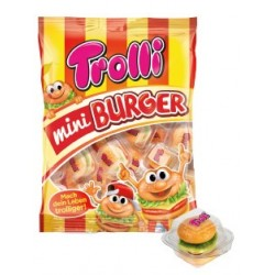 GUMMI TROLLI MINI BURGER 100GR BOX X10 - blister
