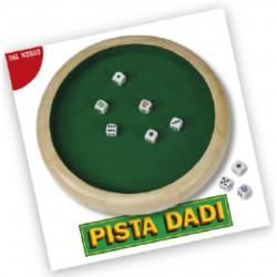 DAL NEGRO PISTA DADI 30CM + 5 DADI PUNTATI POKER 16MM