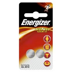 PILE ENERGIZER CALCOLATRICI 189 2PZ  LR54 SR1131 SR54 AG10 1,5V X10