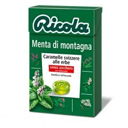CARAMELLE RICOLA ASTUCCIO MENTA DI MONTAGNA 50GR X20