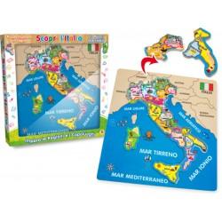 GIOCHI LEGNO SCOPRI L' ITALIA PUZZLE