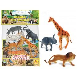 GEO NATURE ANIMALI DELLA SAVANA 6PZ
