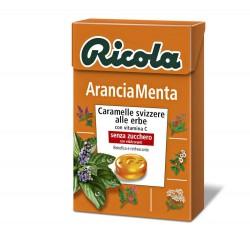 CARAMELLE RICOLA ASTUCCIO ARANCIA MENTA 50GR X20