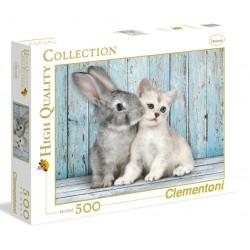PUZZLE CLEMENTONI CAT AND BUNNY 500PZ