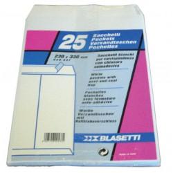 BUSTE A3 A SACCO BIANCO STRIP 250X350MM X25