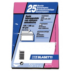 BUSTE COMMERCIALE 230X110MM C/STRIP + FINESTRA X25