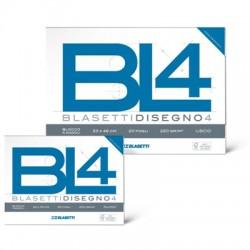 ALBUM DA DISEGNO BLASETTI A4 LISCIO RIQUADRATO 220GR BL4 20FG X10
