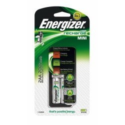 CARICATORI ENERGIZER MINI CHARGER + 2AA 2000MAH POWER PLUS precaricate
