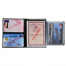 PORTADOCUMENTI MULTICARD SCUDO METAL + 5 CARD X24