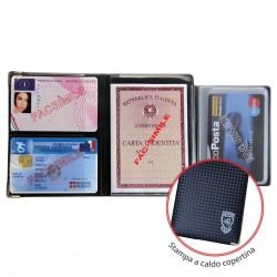 PORTADOCUMENTI MULTICARD SCUDO CARBON + 5 CARD X24