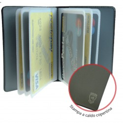 PORTACARDS SCUDO 14CARD METAL MIX X24