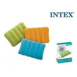 INTEX 68676 CUSCINO FLOCCATO VIAGGIO COLOR MIX 43X28X9CM