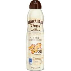 HAWAIIAN TROPIC SOLARI SILK HYDRATION AIR SOFT CAN SUN LOTION SPF 30 SPRAY 177ML