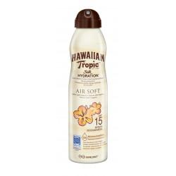 HAWAIIAN TROPIC SOLARI SILK HYDRATION AIR SOFT CAN SUN LOTION SPF 15 SPRAY 177ML