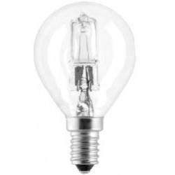 LAMPADINE ALOGENA SFERA PEGASO 53W E14 P45 2700K