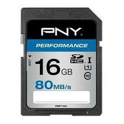 MEMORY CARD PNY SD 16GB HC 80/20 MB/S CLASS10