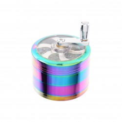 HEMP GRINDER ATOMIC IN METALLO RAINBOW 4 STRATI 62MM
