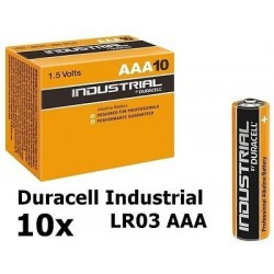 PILE DURACELL 10 MN2400 AAA INDUSTRIAL X10