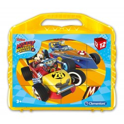 CLEMENTONI PUZZLE VALIGETTA 12 CUBI MICKEY AND THE ROADSTER RACERS