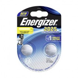 PILE ENERGIZER CALCOLATRICI 2 CR2025 3V ULTIMATE LITHIUM X10 performance