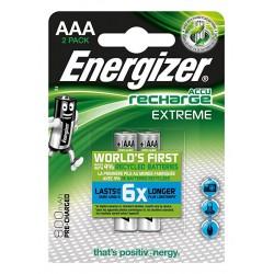 PILE RICARICABILE ENERGIZER EXTREME HR3 AAA 2PZ NH12 800MAH precaricate - singola
