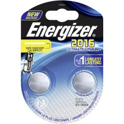 PILE ENERGIZER CALCOLATRICI 2 CR2016 3V ULTIMATE LITHIUM X10 performance