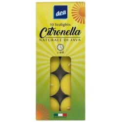 CANDELE DEA CITRONELLA TEALIGHT 4H X10 X10