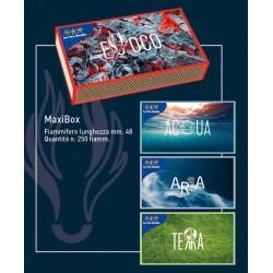 FIAMMIFERI FAMILIARI MAXI BOX 250PZ LE TRE STELLE 48MM X10