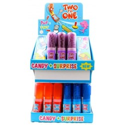 LECCA LECCA TWO TO ONE MIX CANDY + SURPRISE 25GR EXPO X36