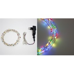 X-MAS LUCI LOTTI CATENE 80 MICROLED MULTICOLOR CONTROLLER 220V 1,5+8MT
