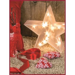 X-MAS STELLE LOTTI MAGIC 3D 10 LED CLASSIC 3AA 35CM