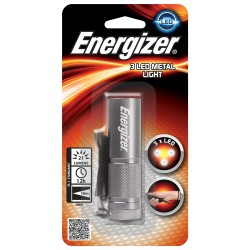 TORCE ENERGIZER METAL LIGHT LED +3AAA