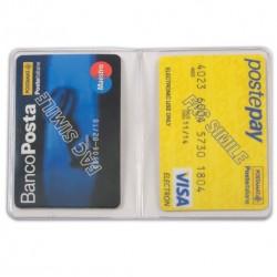 PORTACARDS PVC BICARD TRASPARENTE 2CARD 13X9CM X50
